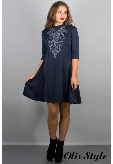 Платье Француаза (синий) Оптовая цена