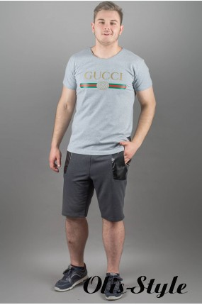 Мужская футболка Гуччи (серый) оптовая цена