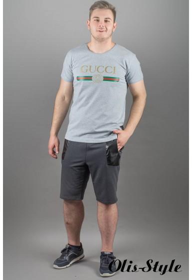 Мужская футболка Гуччи (серый)