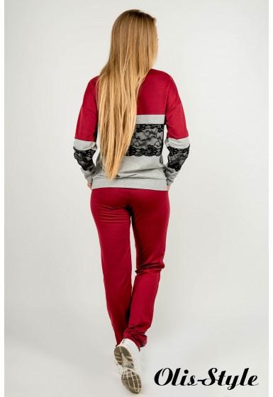 Спортивный костюм Памела (бордовый) Оптовая цена