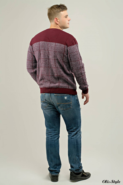 Мужской свитер Никита (бордовый) оптовая цена