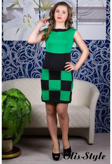 Платье Шахматка (ментол)   оптовая цена