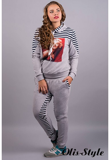 спортивный костюм Монро (серый) Оптовая Цена