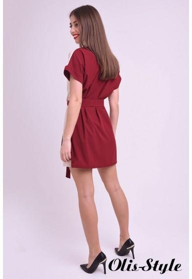 Платье Милинда (бордовый) Оптовая цена