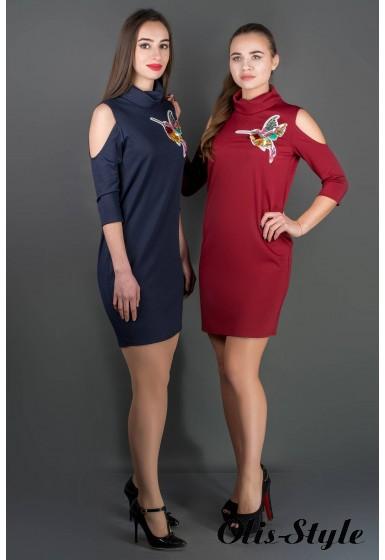 Платье Самира (бордовый) Оптовая цена