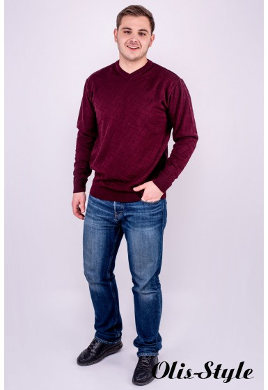 Мужской свитер Гриша (бордовый) оптовая цена
