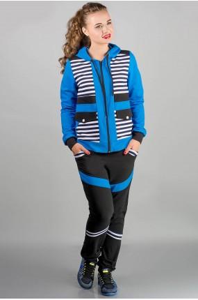 спортивный костюм Анжелика (бирюза полоска) Оптовая Цена