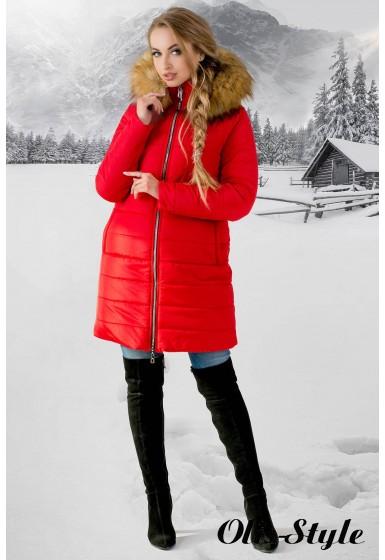 Зимняя куртка Флорида (красная бежевый мех)  ОПТОВАЯ ЦЕНА