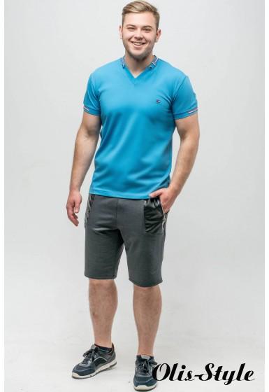 Мужская футболка Грэй (бирюза)