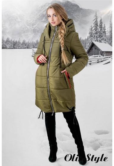 Зимняя куртка Лиана (хаки) Оптовая цена