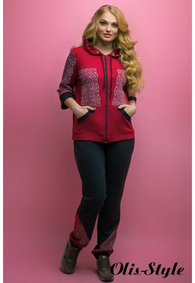 Спортивный костюм Кэри (бордовый)   оптовая цена