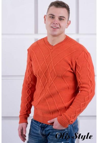 Мужской свитер Василий (кирпичный) оптовая цена
