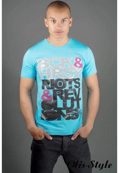 Мужская футболка Йонес (бирюза) оптовая цена