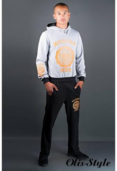 Мужской спортивный костюм Тотем (серо-черный) Оптовая Цена