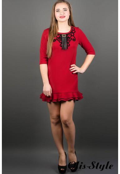 Платье Кураж (бордовый) ОПТОВАЯ ЦЕНА