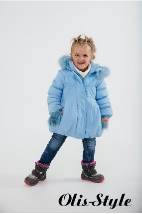 Зимняя детская куртка Бемби (голубой) ОПТОВАЯ ЦЕНА