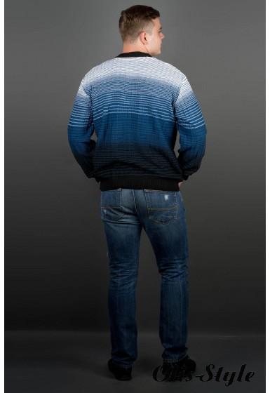 Мужской свитер Евгений (голубой) оптовая цена