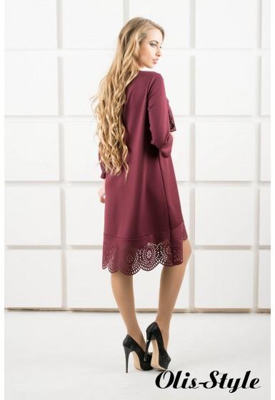 Платье Наир (бордовый) Оптовая цена