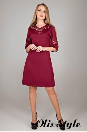 Платье Диколь (бордовый) Оптовая цена