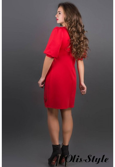 Платье Айсель (красный) Оптовая цена