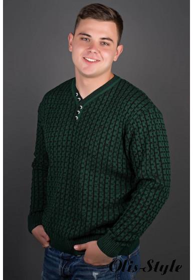 Мужской свитер Влад (зеленый) оптовая цена