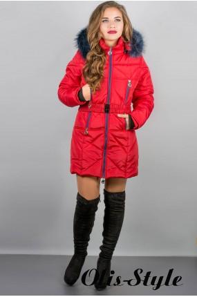 Зимняя куртка Дорри (красная синий мех) Оптовая цена