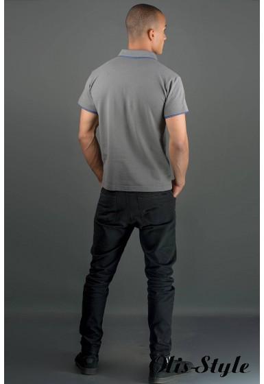 Мужская футболка Поло (серый) оптовая цена