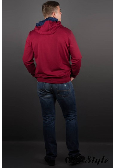 Мужская толстовка Эдмон (бордовый) оптовая цена