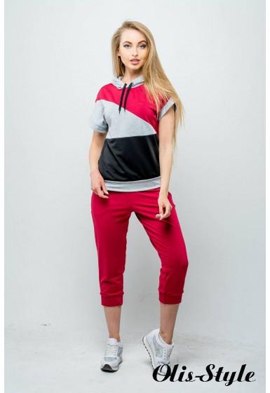 Спортивный костюм Илайя (бордовый) Оптовая цена