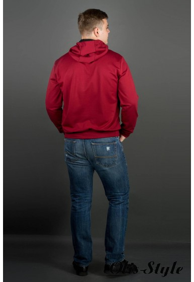 Мужская толстовка Рунэ (бордовый) оптовая цена
