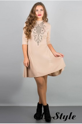 Платье Француаза (бежевый) Оптовая цена