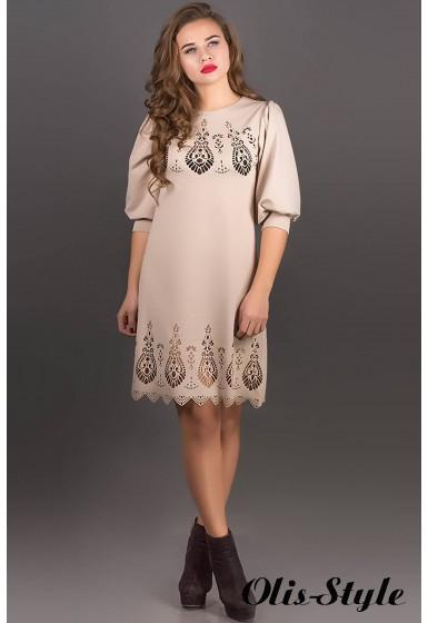 Платье Айсель (бежевый) Оптовая цена