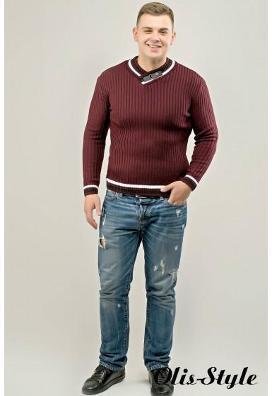 Мужской свитер Отто (бордовый) оптовая цена