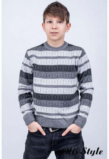 Детский свитер Акмаль (серый)