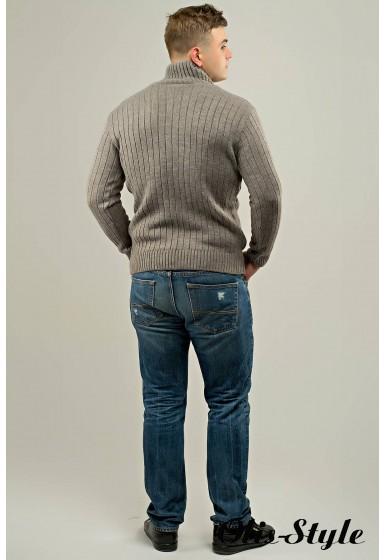Мужской свитер Леонид (бежевый) оптовая цена