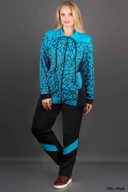 Спортивный костюм Айден (бирюза)   оптовая цена