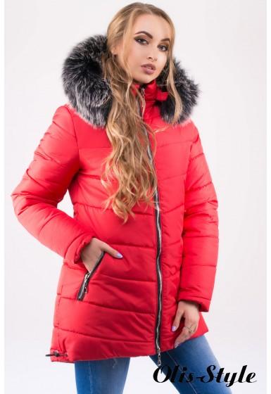 Зимняя куртка Бриана (красная серый мех) Оптовая цена