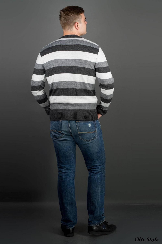 Мужской свитер Арсен (серый) оптовая цена