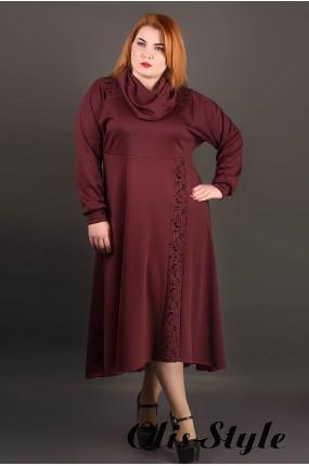 Платье Клеш (бордовый) Оптовая цена
