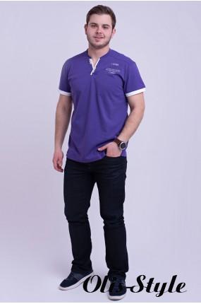 Мужская футболка Систен (лиловый) оптовая цена