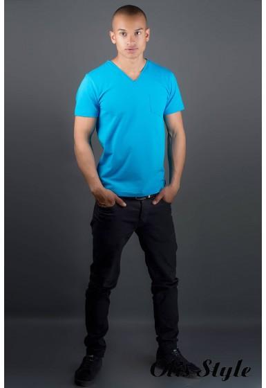 Мужская футболка Жерар (голубой) оптовая цена