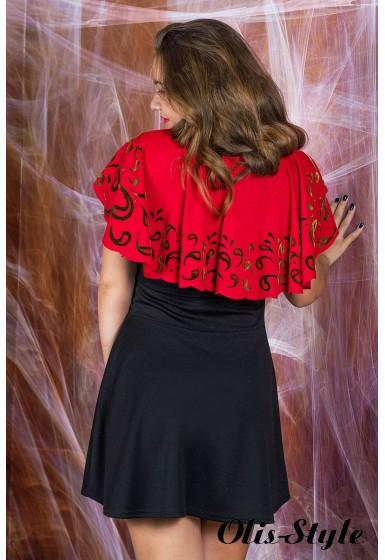 Платье Мадонна (черный с кораллом) оптовая цена