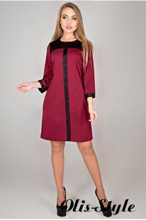 Платье Таура (бордовый) Оптовая цена