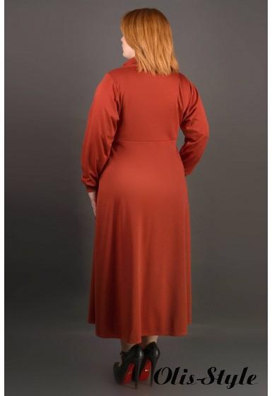 Платье Клеш (кирпичный) Оптовая цена