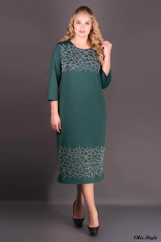 Платье Пиастра (зеленый) Оптовая цена