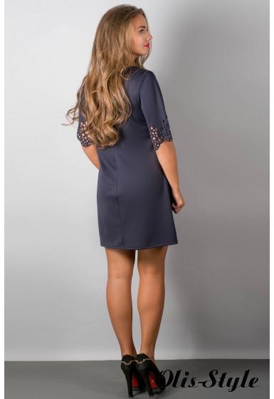 Платье Шедевр (синий) Оптовая цена