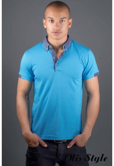 Мужская футболка Принт (голубой) оптовая цена