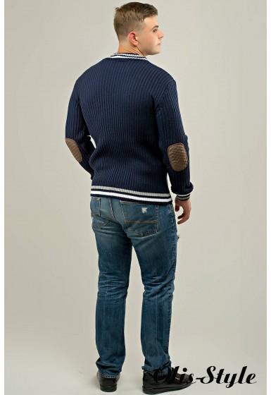 Мужской свитер Отто (синий) оптовая цена