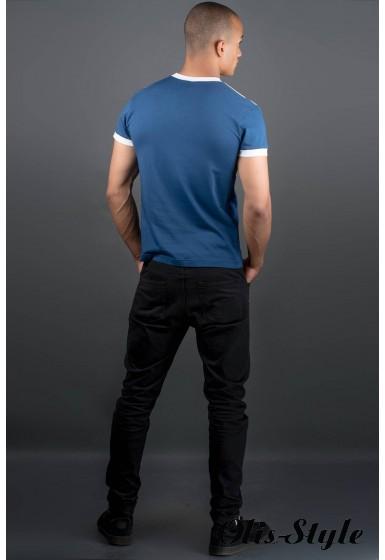 Мужская футболка Рональдо (синий) оптовая цена