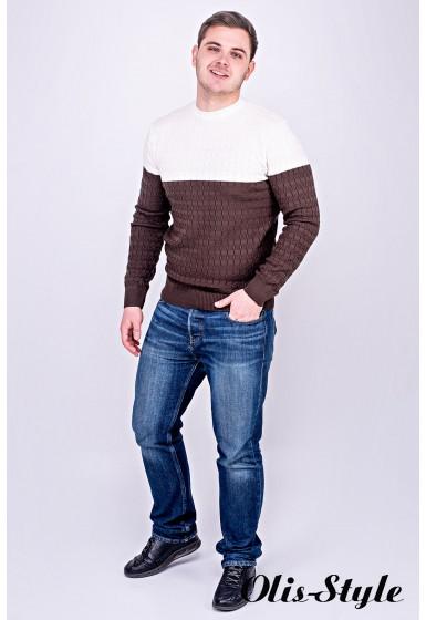 Мужской свитер Михаил (коричневый) оптовая цена